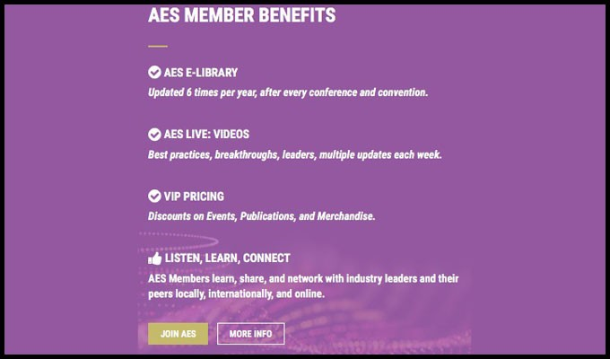 AES Membership Month Extends AES Milan Registration, Opens NY 2018 Housing, Updates Refer-a-Friend