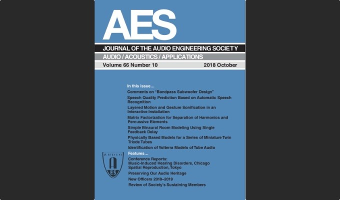 Latest edition of the AES Journal now available in the AES E-Library