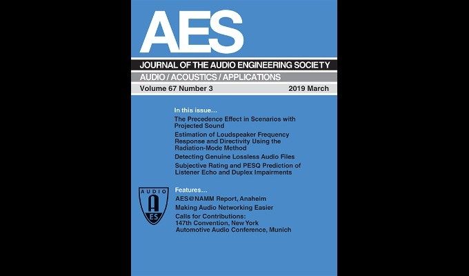 March Edition of the AES Journal Now Available Online