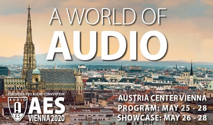 The Audio Engineering Society Announces Plans for AES Vienna European Pro Audio Convention in 2020