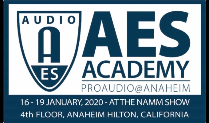 Registration opens August 28 for the upcoming AES Academy 2020 in Anaheim in January