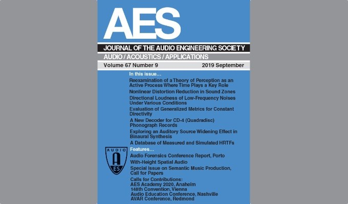The Journal of the Audio Engineering Society