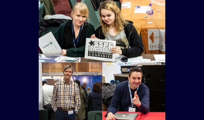 AES Virtual Vienna will provide audio students worldwide an open door for direct contact with leading educators and companies in its Education and Career Fair, always a popular element of AES Conventions (snapshots shown from AES Dublin 2019)