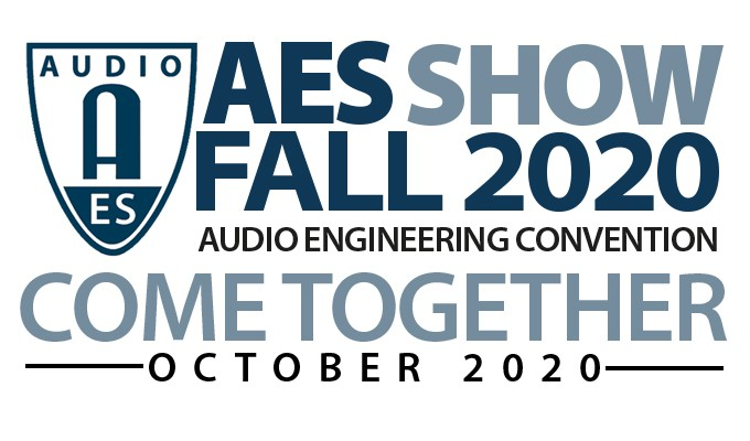 Registration is now open for the AES Show Fall 2020 Professional Audio Convention at AESShow.com