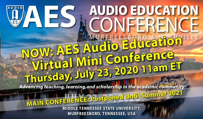 Free for Members: AES Audio Education Virtual Mini Conference