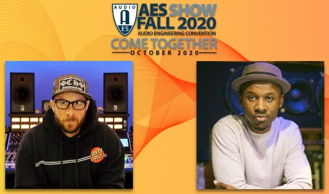 Shown L - R, Featured AES Show Fall 2020 Convention Hip-Hop and R&B Track Presenters Joey Raia and John Kercy