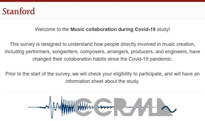 Take Part in the Stanford University's Music Engagement Research Initiative (MERI) Study on Music Collaboration During the Covid-19 Pandemic