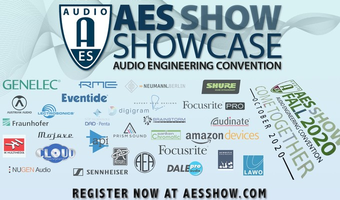 AES Show Fall 2020 Convention Partner Showcase Set for October 19 - 23