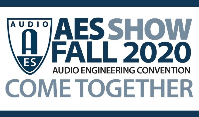 AES Show Fall 2020 Convention virtual Partner Showcase, AoIP Summit, Zoom and Podcast Webinar and TechTours events available online through December 18
