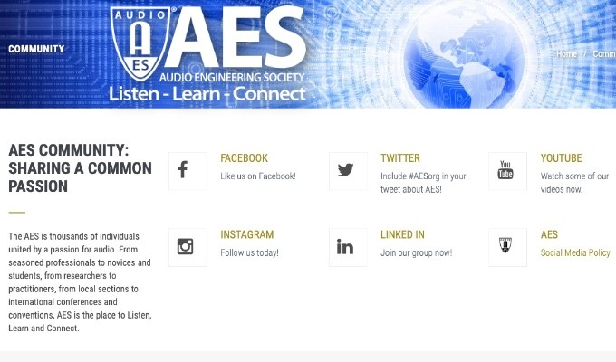 Listen, Learn, and Connect with the AES Online - #AESorg