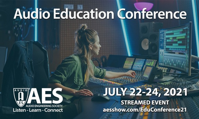 AES 2021 Audio Education Conference Early Bird registration rates end June 1