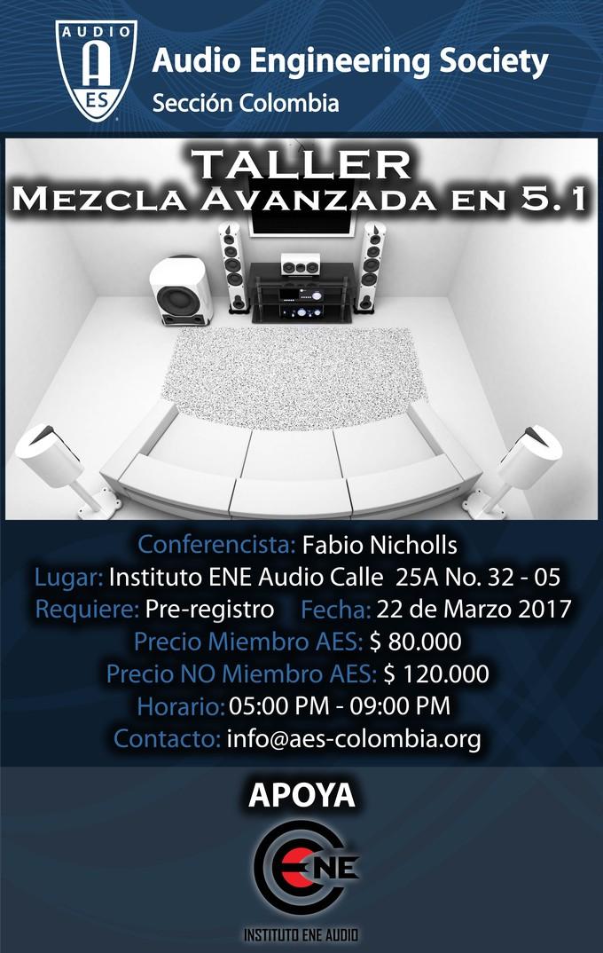 Afiche Taller Mezcla Avanzada en 5.1