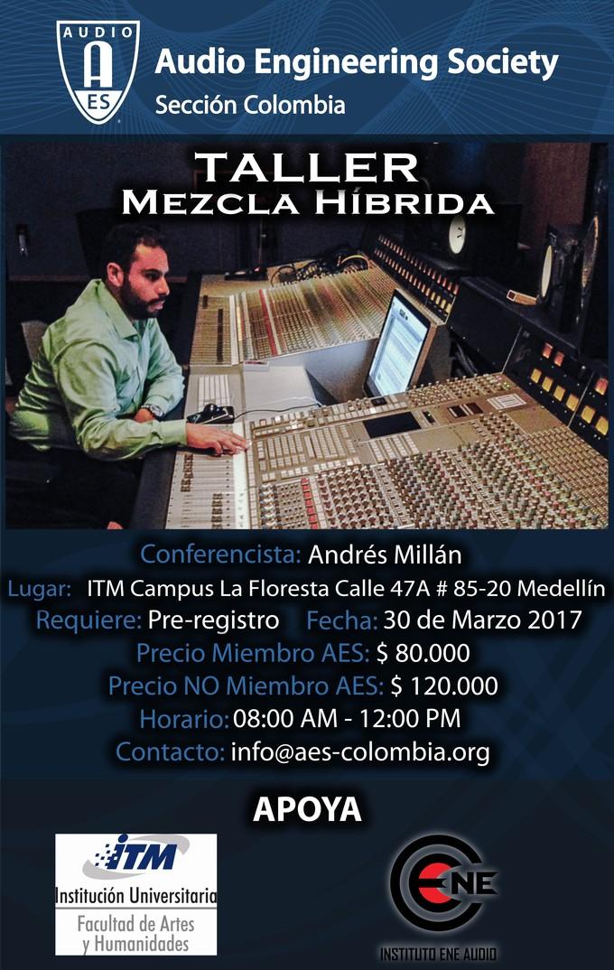 Afiche Mezcla Híbrida en Medellín