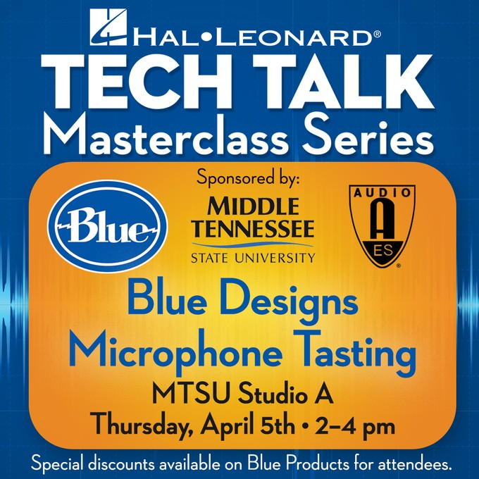 "Blue Designs ""Microphone Tasting"""