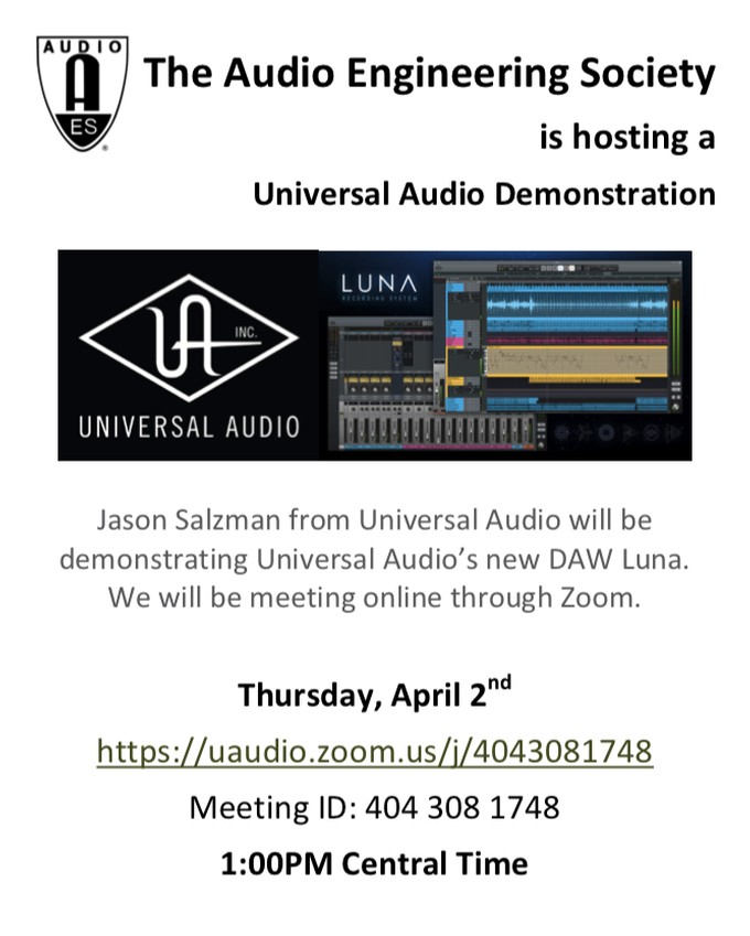 Universal Audio Luna Demonstration