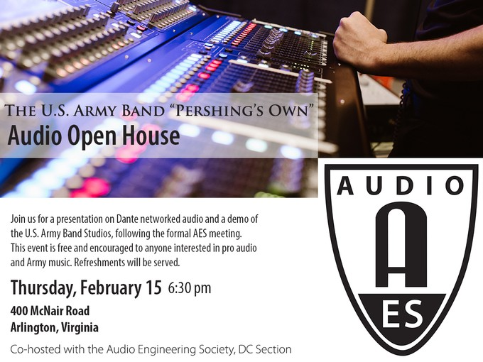 "Audio Networking and Dante/ Tour of the ""Pershing's Own"" Brucker Hall"