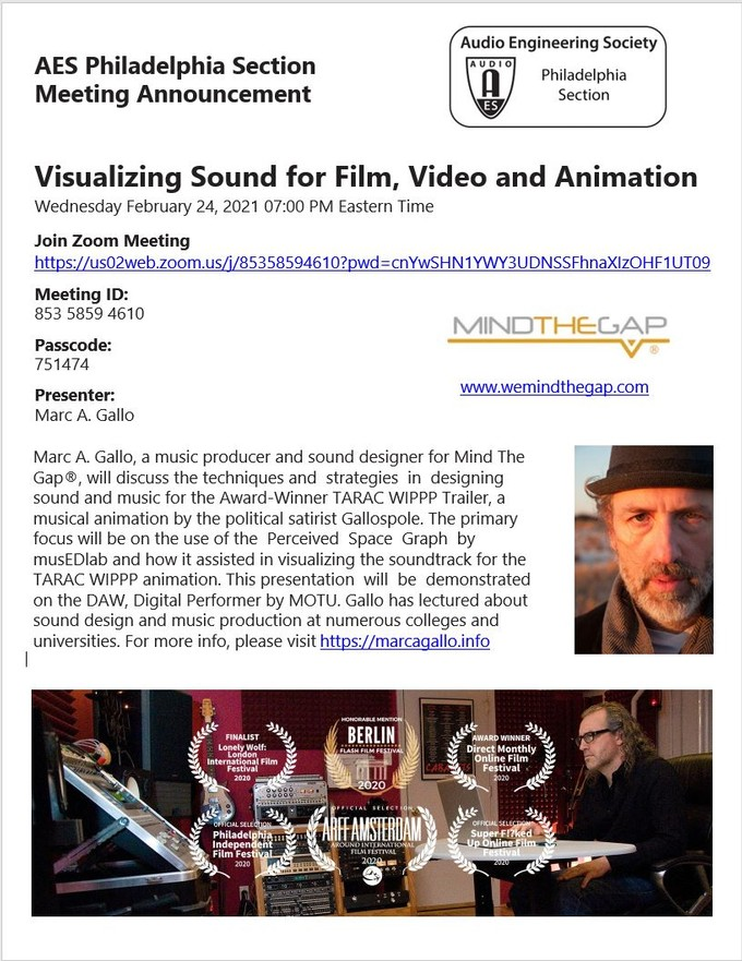 Visualizing Sound for Film, Video and Animation