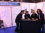 Student Booth at the 132nd AES Convention - Budapest
