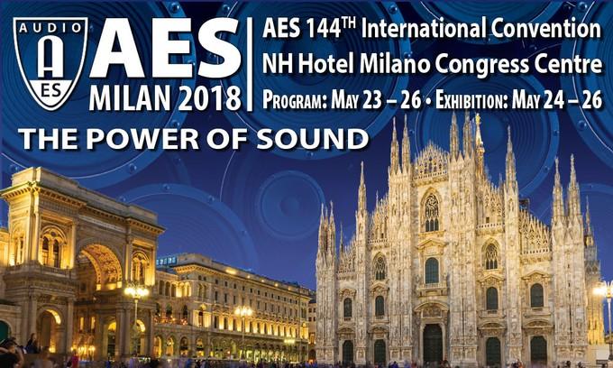 Il programma tecnico della 144esima Convention AES di Milano