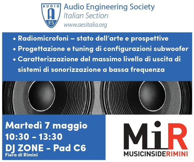 Past Event: Convegno AES - LIVE AUDIO - Radiomicrofoni / Subwoofer / Misure