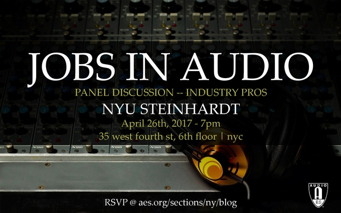 Past Event: Jobs in Audio