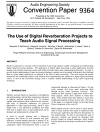 AES E-Library » The Use of Digital Reverberation Projects to