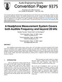AES E-Library » A Headphone Measurement System Covers both Audible