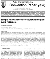 AES E-Library » Sample-Rate Variance across Portable Digital
