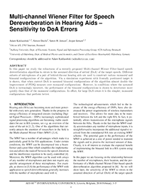 AES E-Library » Multichannel Wiener Filter for Speech