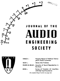 Aes E Library 187 Complete Journal Volume 8 Issue 1
