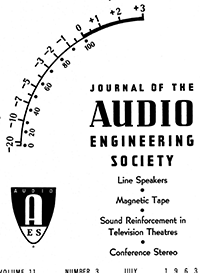 AES E-Library » Complete Journal: Volume 11 Issue 3