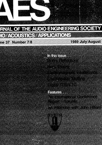 AES E-Library » Complete Journal: Volume 37 Issue 7/8