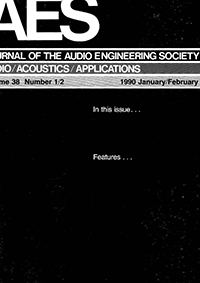 AES E-Library » Complete Journal: Volume 38 Issue 1/2