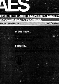 AES E-Library » Complete Journal: Volume 38 Issue 10
