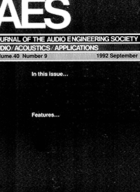 AES E-Library » Complete Journal: Volume 40 Issue 9