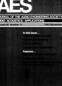 AES E-Library » Complete Journal: Volume 40 Issue 11