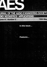 AES E-Library » Complete Journal: Volume 41 Issue 5