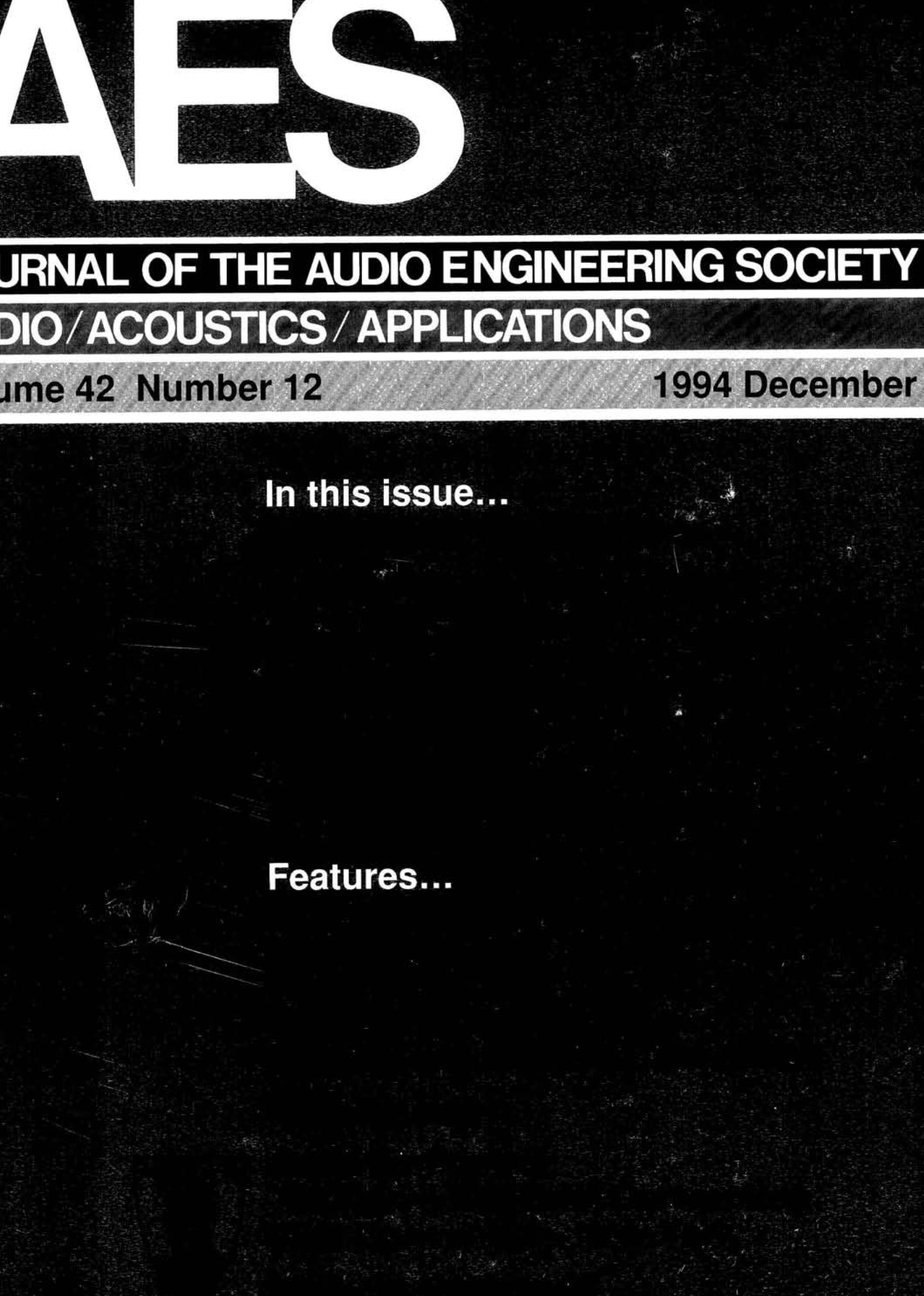 AES E Library » Complete Journal Volume 40 Issue 40
