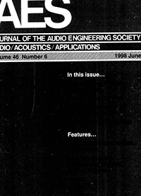 AES E-Library » Complete Journal: Volume 46 Issue 6
