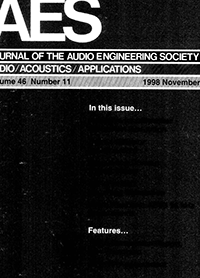 AES E-Library » Complete Journal: Volume 46 Issue 11