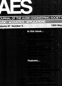 AES E-Library » Complete Journal: Volume 47 Issue 5