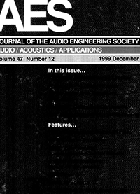 AES E-Library » Complete Journal: Volume 47 Issue 12