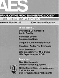 AES E-Library » Complete Journal: Volume 48 Issue 1/2