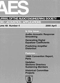 AES E-Library » Complete Journal: Volume 48 Issue 4
