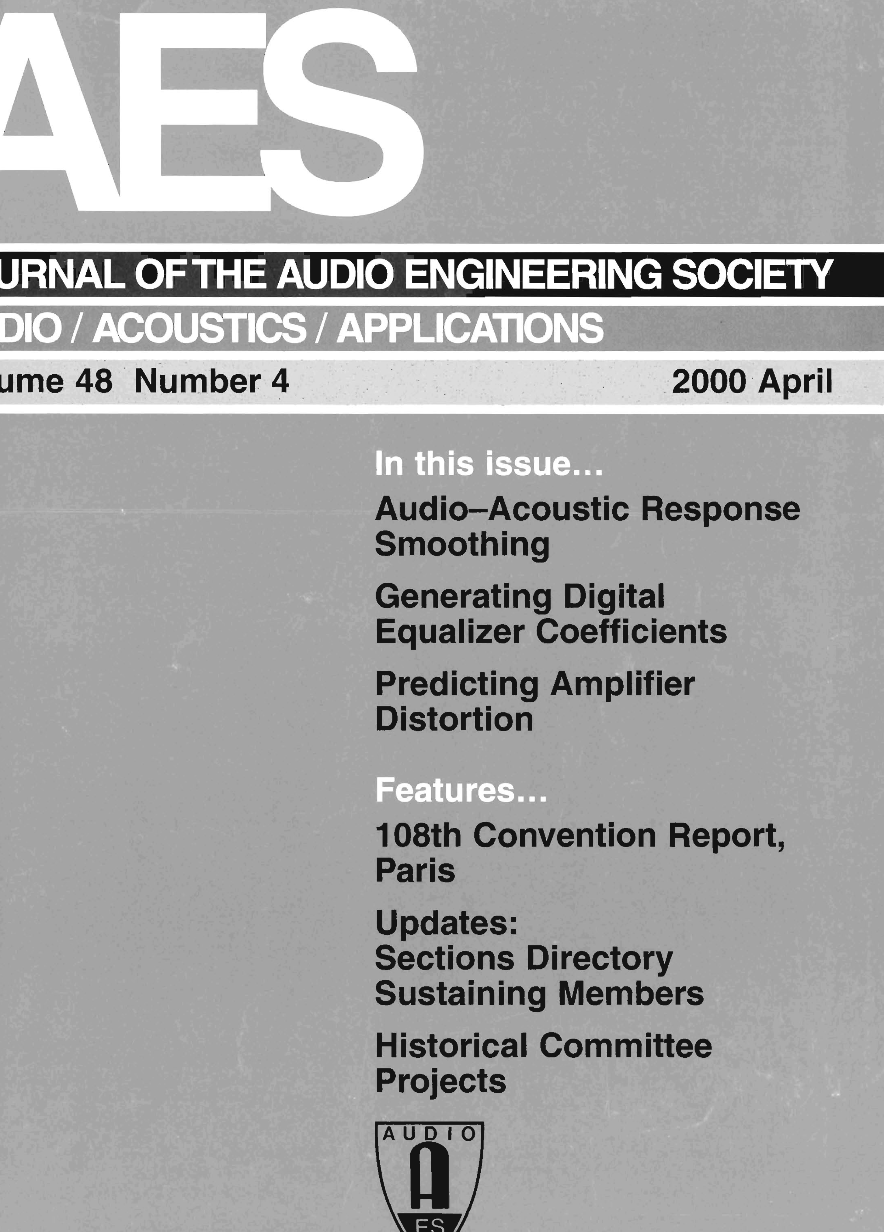 AES E Library » Complete Journal Volume 400 Issue 40