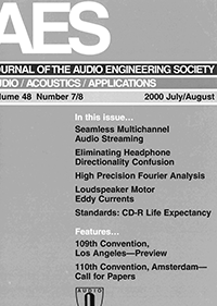 AES E-Library » Complete Journal: Volume 48 Issue 7/8