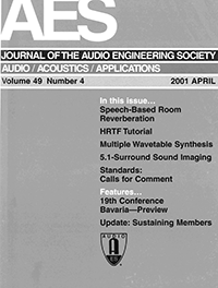 AES E-Library » Complete Journal: Volume 49 Issue 4