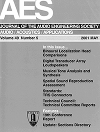 AES E-Library » Complete Journal: Volume 49 Issue 5