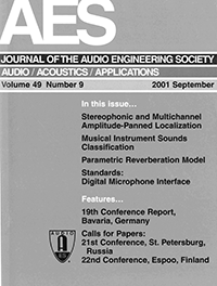 AES E-Library » Complete Journal: Volume 49 Issue 9