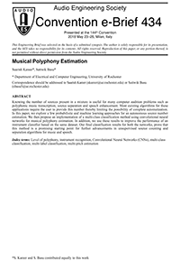 AES E-Library » Musical Polyphony Estimation